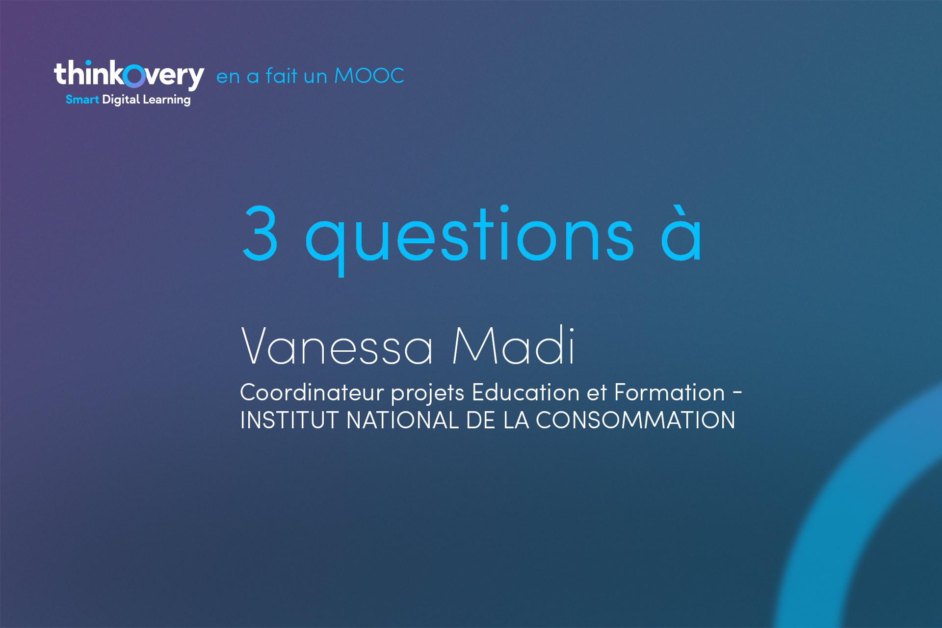 Vanessa Madi repond a nos questions sur le parcours INC donnees personelles